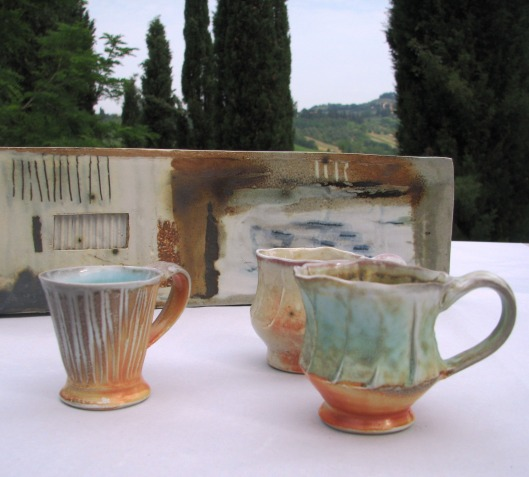Soda fired pieces from the old kiln
