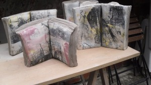 Ceramic books using silkscreen print