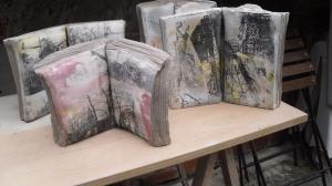 Ceramic books using silkscreen print