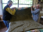 Large clay slab being removed by Pietro Maddalena and John Colbeck