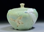 Green porcelain jar by Rick Hensley