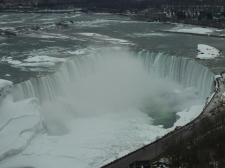 Icy Niagara Falls, seen from the tower