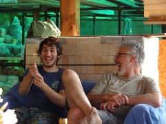 Hamish and Pietro Maddalena laughing