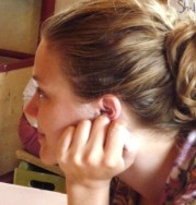Savannah during a moment of relax during her study aborad in Italy with Prof. Ken Shipley